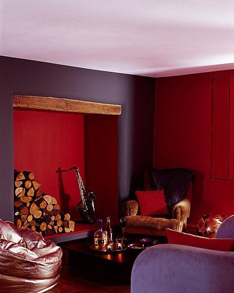 Ce mariage de couleurs sombres et chaudes crée une ambiance douillette. Institut Couleurs & Déco. Astral.