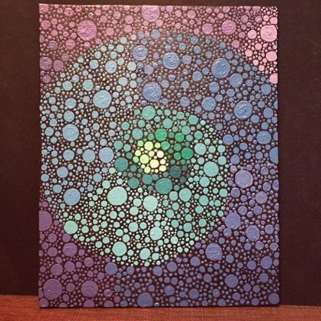 #aboriginal #aboriginalart #canvas #canvaspainting #arts_help #arts_gallary #dotillism