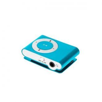 Lekki i przenośny odtwarzacz MP3. Urządzenie nie posiada pamięci wbudowanej, za przechowywanie utworów odpowiada czytnik kart microSD do 32 GB. Urządzenie zostało wyposażone w praktyczny klips umozliwiający zamocowanie odtwarzacza, np. do paska. Urządzenie obsługuje odtwarzanie plików MP3.  Produkt w kolorze niebieskim.