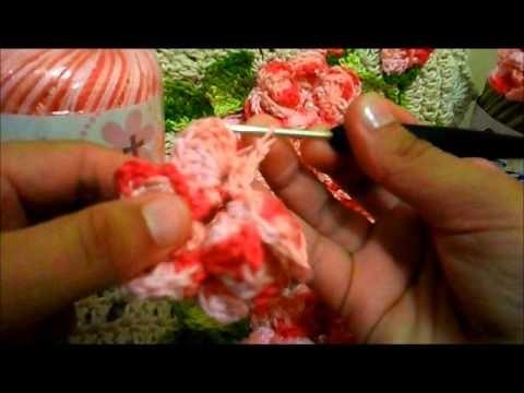 Flor viciadas em crochê(vídeo aula)