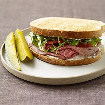 WW Roast Beef Sandwiches with Horseradish Mayo:  2 servings; 7 points+ per serving