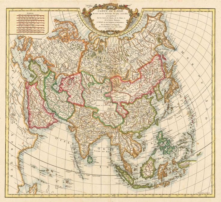 1750 Carte de l'Asie dressee sur les Relations les plus nouvelles, principalement fur les Cartes de Russie, de la Chine, et de la Tatarie Chinoise; et divisee en ses Empires et Royaumes.