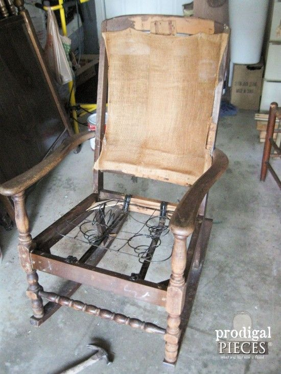 Reupholster Chair Diy Antique