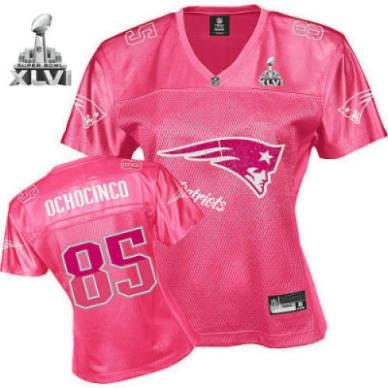 ... New England Patriots Chad Ochocinco Women Pink Fem Fan 2012 Super Bowl  Jersey ... 1a85c82ec