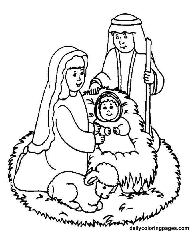 nativity characters free printouts | nativity scene bible coloring sheets 11