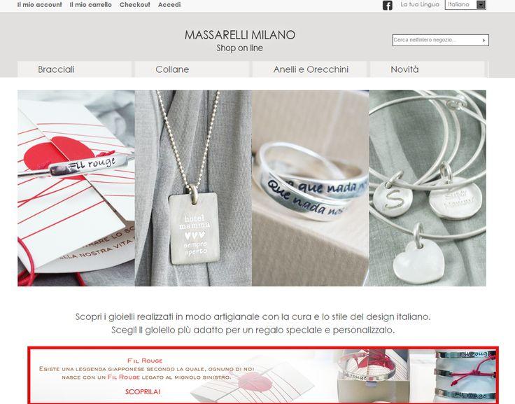 Gioielli personalizzati in argento Bracciali Anelli Orecchini Collane... www.massarellimilano.it