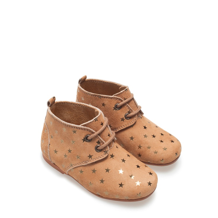 Leather boot with stars - Shoes - Baby girl - Kids - ZARA Spain