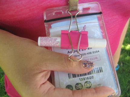 #The3Day hacks! A 1-inch binder clip makes a terrific make-shift lip balm holder. Click through to read more hacks for walking the 3-Day to end breast cancer!