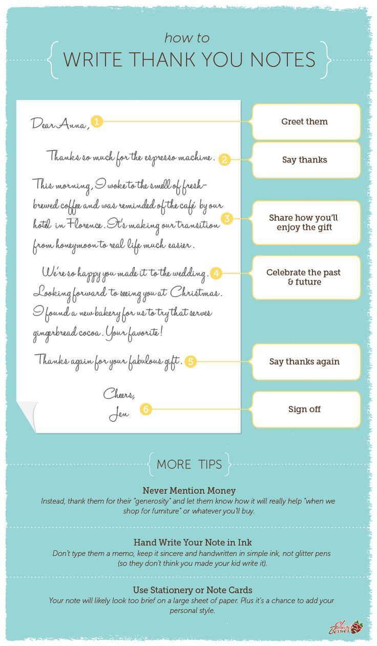 Writing Wedding Gift Thank You Cards : how to write the perfect thank you note, great for after your wedding ...