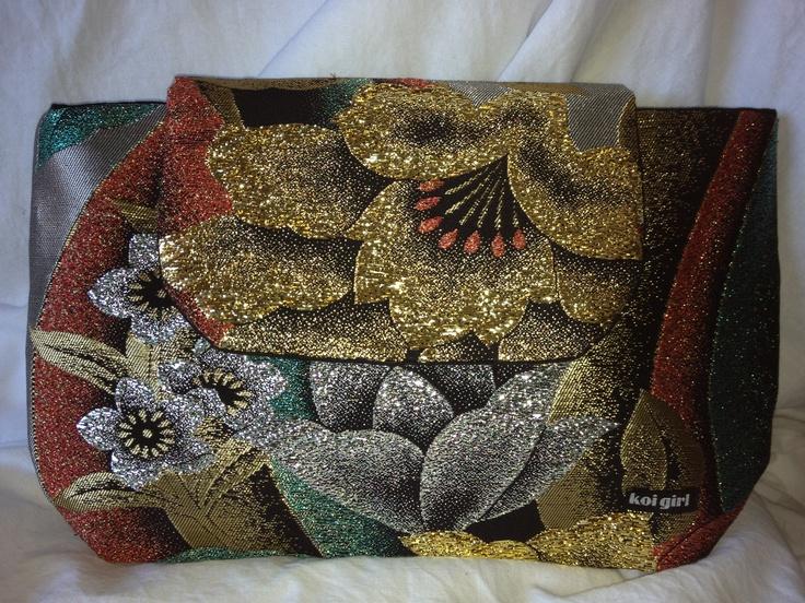 Koi Girl Metallic clutch purse  www.koigirl.com.au