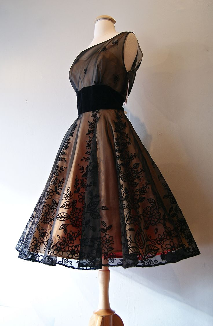 Vintage Dress : 1950s party dress : Xtabay Vintage Clothing Boutique