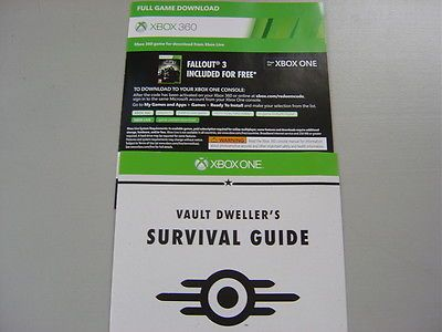 Fallout 3 Full Game Online DLC Code For The Xbox One