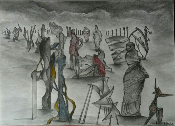Dibujo. Serie.. Teoremas y Memoria  Raúl Droguett