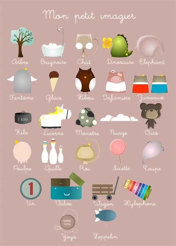 Mon petit imagier, Limoon - imagier pour enfants - L'Affiche Moderne