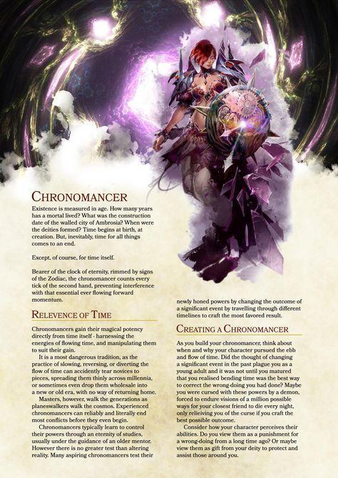 DnD 5e Homebrew — Chronomancer class by Zst0rm