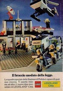 Tia72 Pubblicità Advertising Werbung 1987 Lego Legoland Città Police Polizia
