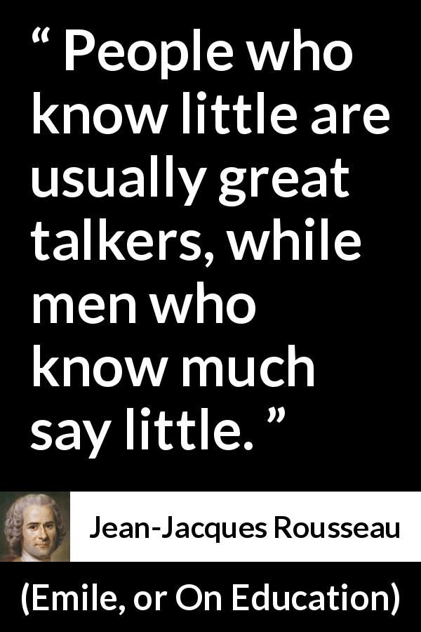 Jean Jacques Rousseau Quote About Ignorance From Emile Or On
