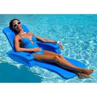 Texas Recreation Baja II Folding Foam Pool Float Lounge