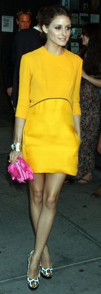 <3 this dress VICTORIA BECKHAM DESIGN: Beckham Collection, Leopards Shoes, Yellow Dresses, Pink Colors, Cute Dresses, Olivia Palermo Shoes, Fashion Inspiration, The Dresses, Bright Yellow