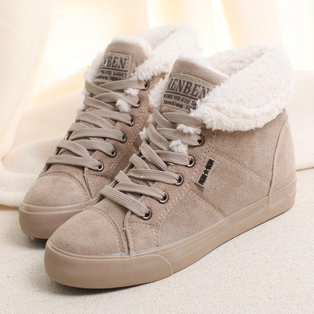 2016 bereber de lana de las mujeres del ascensor martin botas de nieve botas térmicas bajas grandes de algodón acolchado zapatos calientes de las mujeres zapatos