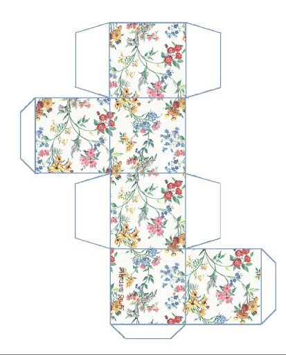 Miniature Printables - Flowered Box.