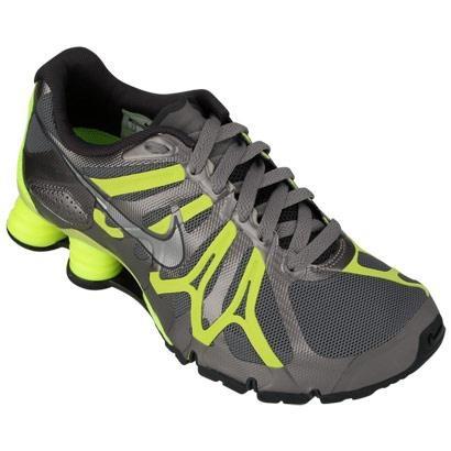Tênis Nike Shox Turbo  13 W – Cinza e Verde Limão - http://batecabeca.com.br/tenis-nike-shox-turbo-13-w-cinza-e-verde-limao-netshoes.html