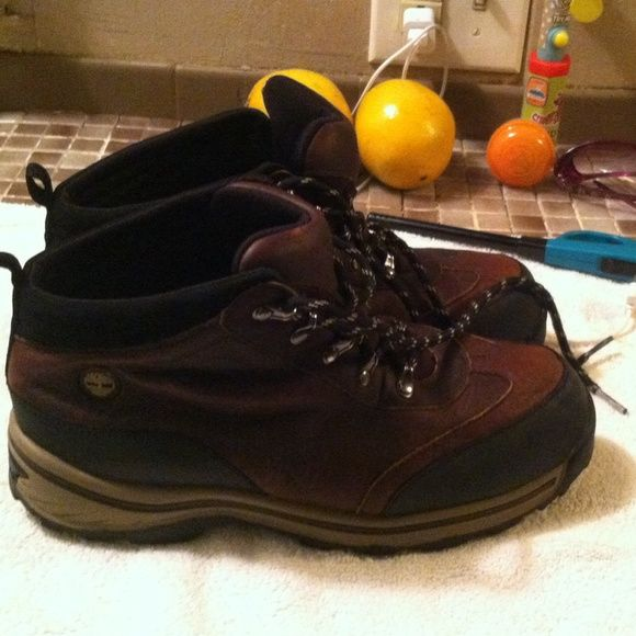 Timberland Boots Like new Timberland premium boots for boys, worn twice!   Boys size 6 Timberland Shoes Lace Up Boots