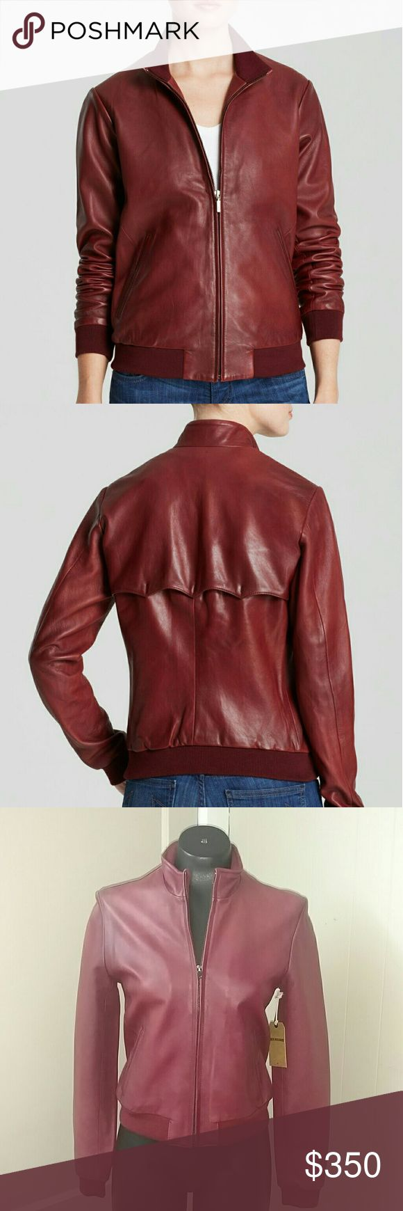 True Religion NWT liv leather jacket. 100% Soft sheep leather fitted bomber jacket. Bordeaux red color. Two front pockets. True Religion Jackets & Coats