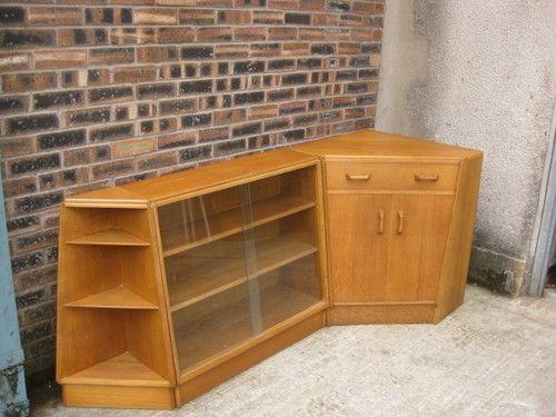 Unusual G Plan E Gomme Oak Corner Bureau Corner Shelf Bookcase C1950 60s Ebay Whitehall