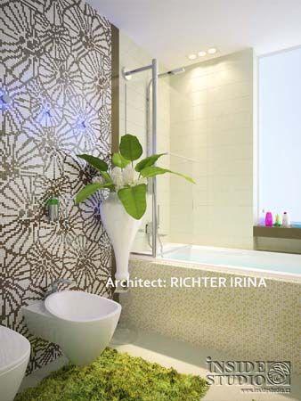 Дизайн проект интерьера детской ванны. Архитектор Рихтер Ирина http://www.insidestudio.ru/#!flat-243/c1uxi