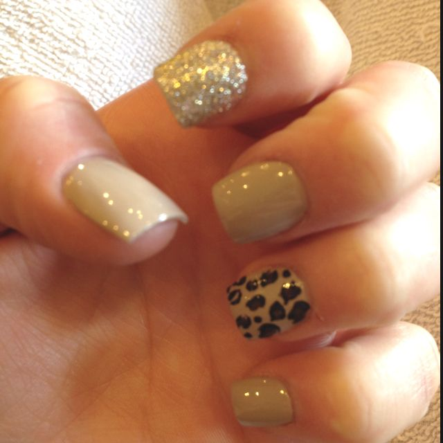 Birthday nails! Cheetah :)