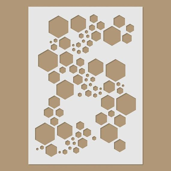 Super Hexagon Stencil by StencilDirect on Etsy                                                                                                                                                                                 More