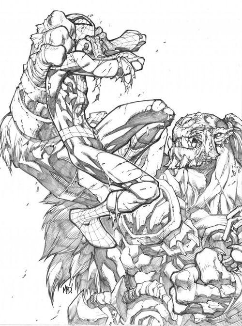 Spider-Man Pencils by Joe Madureira