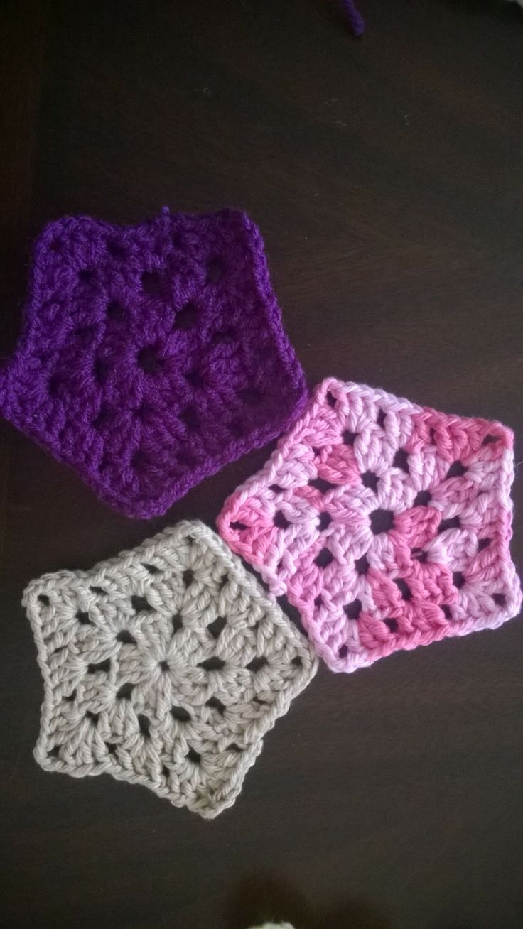 Some more coasters/ granny square with a twist