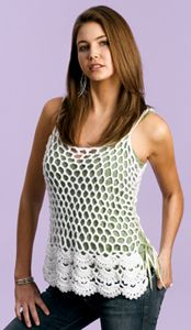 Looking for an intermediate crochet pattern for the summer? Check out this free crochet pattern. The cami is light-weight and perfect for wearing over other tanks or a bathing suit.