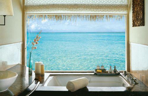 bathBeach Living, The View, Dreams Bathroom, Luxury Bathtubs, Sea View, Beach Bathrooms, Windows Shades, Awesome Places, Bathroom View