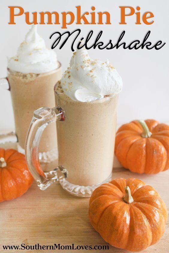 Pumpkin Pie Milkshake {Recipe}