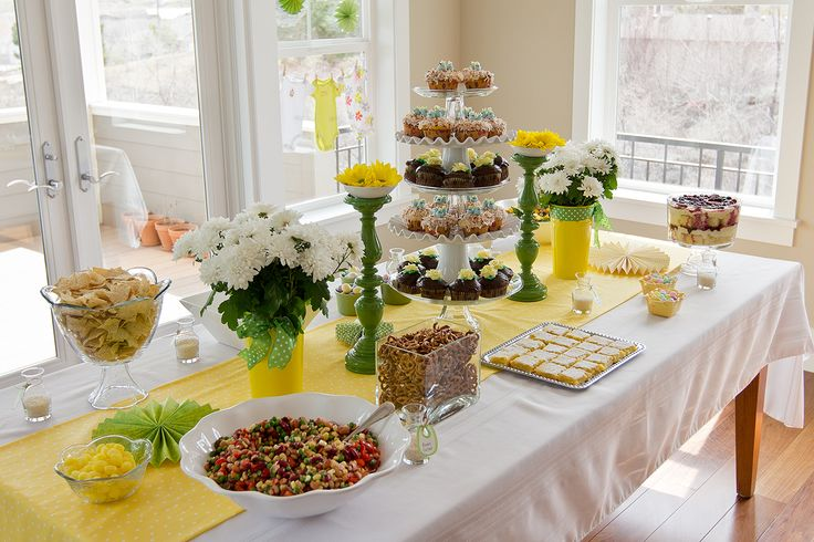 Spring Baby Shower With Vegetarian Food And Fresh Flowers. | Parties |  Pinterest