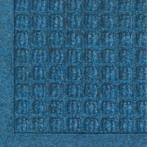 """Andersen 280 Medium Blue Polypropylene WaterHog Fashion Entrance Mat, 5' Length x 3' Width, For Indoor/Outdoor by Andersen. $62.65. No other mat in the industry traps water and dirt so effectively. WaterHog mats are constructed of rubber reinforced face nubs and the """"waffle"""" design provides crush proof scraping action. Raised, """"Water Dam"""" borders trap dirt and water keeping floors cleaner and safer. These mats are perfect indoors or out, especially outside your front door. The ..."""