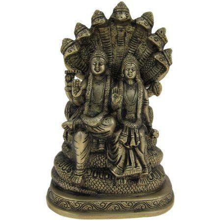 Amazon.com: HinduGods Religious Statue of Lord Vishnu & Lakshmi Statues of Goddess 3.5 X 3 X 8.5 Inches: Home & Kitchen