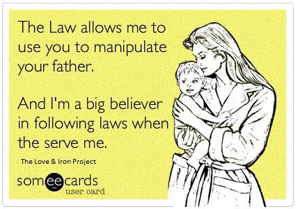 Oh it happens .. only when it's convenient for the deadbeat mom's then they use the court system to get what they want.