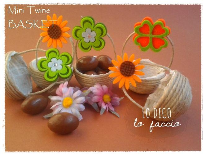 Lo Dico, lo Faccio : Mini basket portaovetti in corda #topbloggerkreattive