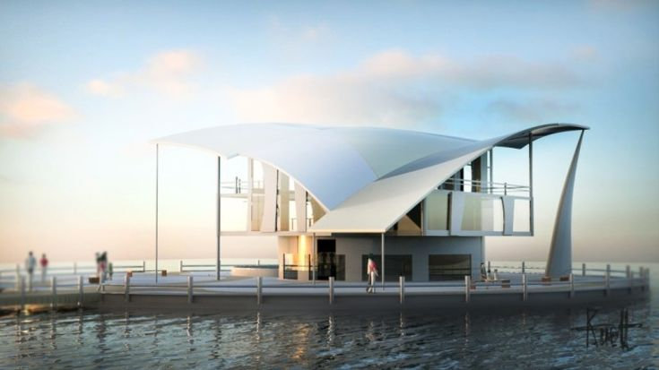 architecture rendering done in KeyShot