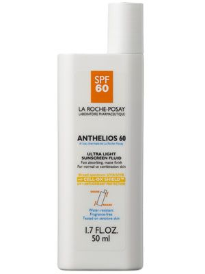 Best Facial Sunscreen  A facial sunscreen that doesn't leave a white, pasty tint or a greasy residue? Done and done. It's also sweatproof, making it perfect for outdoor activities.  La Roche-Posay Anthelios 60 Ultra Light Sunscreen Fluid, $30, Amazon.com and Target.com