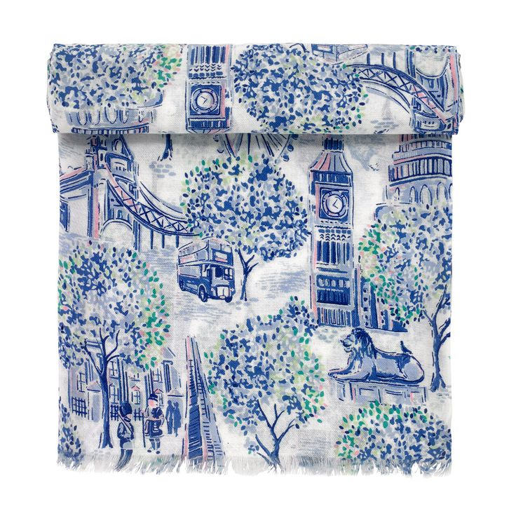 London Toile Scarf | Hats, Scarves and Gloves | CathKidston