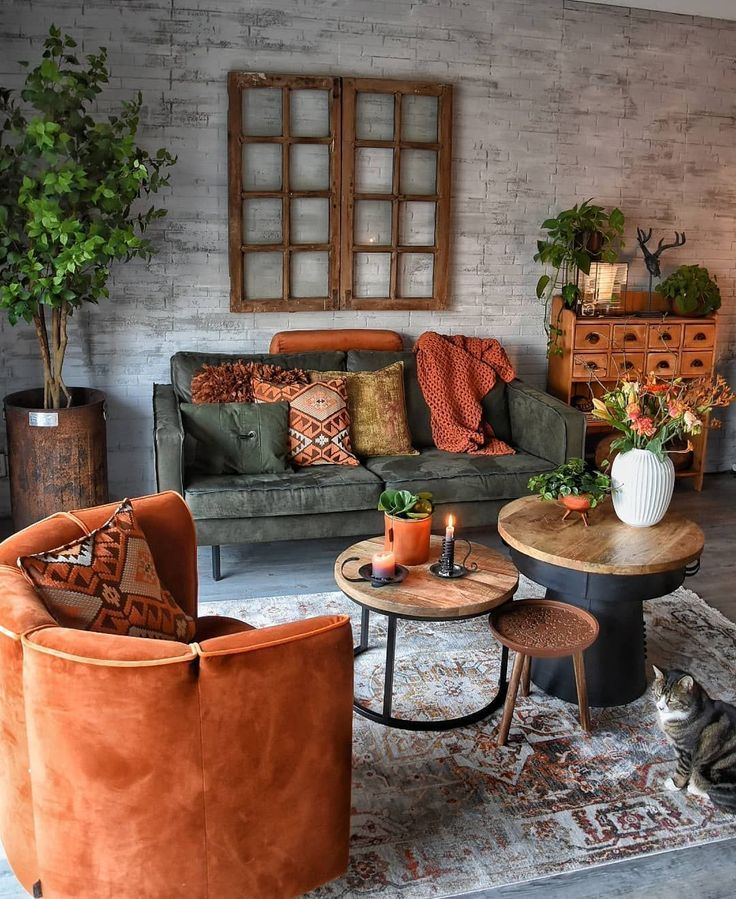 Earth Tones In The Living Room Modern Bohemian Living Room Boho Living Room Living Room Decor