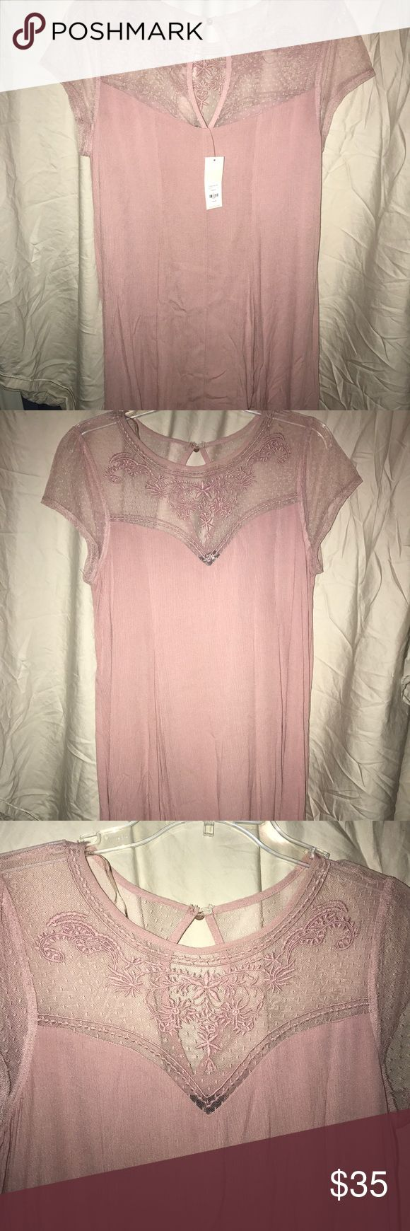 Blush pink flowy dress Brand new! With tags. Never worn, bought a couple weeks ago and never worn. This dress is super cute and would go well with a variety of styles! I paid full price and am open to offers(: Dresses