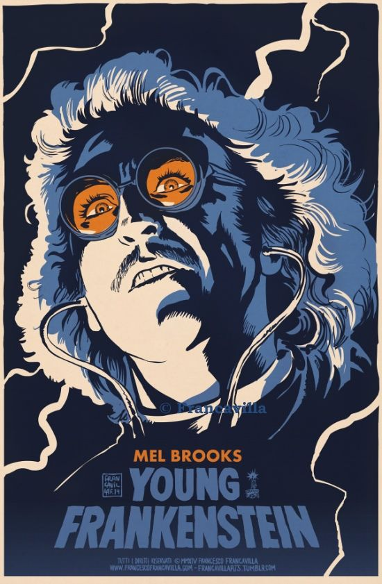 ~~ YOUNG FRANKENSTEIN ~~Poster Art by Francesco Francavilla  Movie Anniversary time! Mel Brooks' masterpiece (in my humble opinion), starring Gene Wilder, Marty Feldman, and Peter Boyle (among others), was released in theaters on Dec 15th, 1974 - 40 years ago today. LOVE LOVE LOVE this movie! :) Cheers,FF