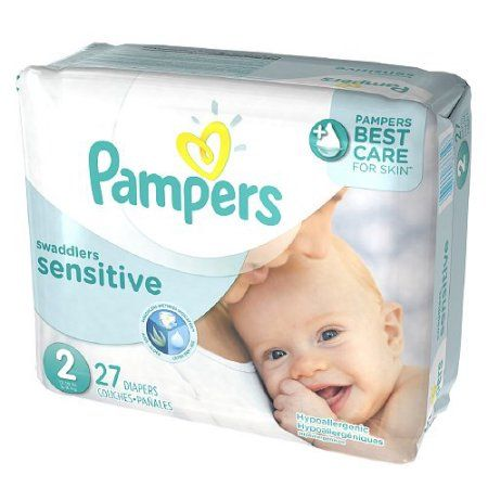 Pampers Swaddlers Sensitive Diapers Size 2, Jumbo Pack - 27 Ea / 4 Pk, Multicolor