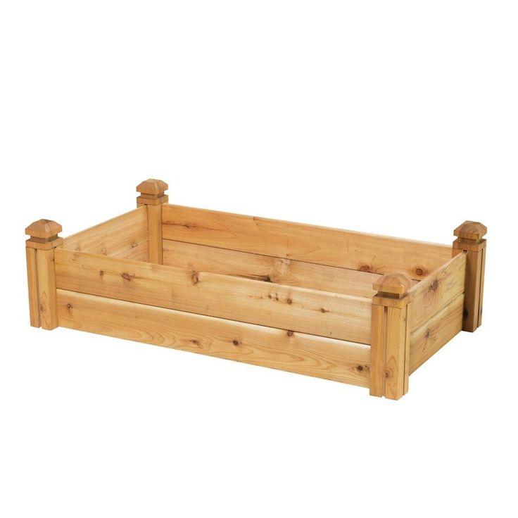 A perfect solution for growing a garden of vegetables or flowers on top of difficult soil, the Elevated Garden Bed is an attractive addition to any yard adding style and dimension to your landscape. The raised sideboards will protect your plantings from pets, foot traffic and, to an extent, wild creatures. Made of 100% western red cedar and handcrafted in the U.S.A. the elevated garden bed. The boards and posts have been machined with dovetail joints that slide together. Your garden bed can…